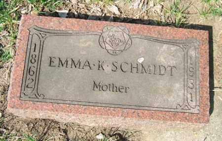 SCHMIDT, EMMA K. - Minnehaha County, South Dakota | EMMA K. SCHMIDT - South Dakota Gravestone Photos