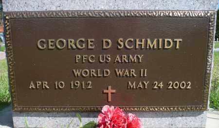 SCHMIDT, GEORGE D. (WWII) - Minnehaha County, South Dakota | GEORGE D. (WWII) SCHMIDT - South Dakota Gravestone Photos