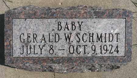 SCHMIDT, GERALD W. - Minnehaha County, South Dakota   GERALD W. SCHMIDT - South Dakota Gravestone Photos