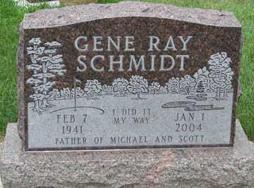 SCHMIDT, GENE RAY - Minnehaha County, South Dakota | GENE RAY SCHMIDT - South Dakota Gravestone Photos