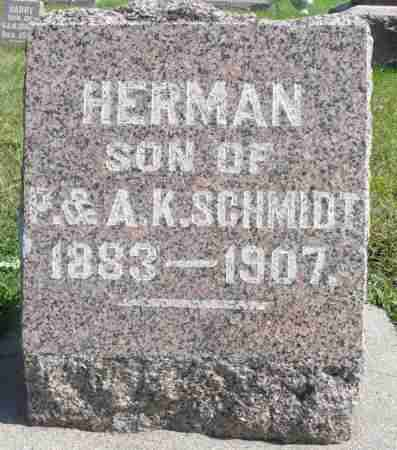 SCHMIDT, HERMAN - Minnehaha County, South Dakota | HERMAN SCHMIDT - South Dakota Gravestone Photos