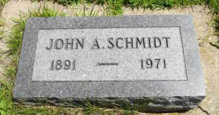 SCHMIDT, JOHN A. - Minnehaha County, South Dakota | JOHN A. SCHMIDT - South Dakota Gravestone Photos