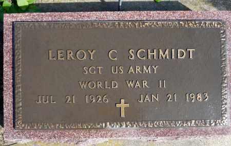 SCHMIDT, LEROY C. (WWII) - Minnehaha County, South Dakota | LEROY C. (WWII) SCHMIDT - South Dakota Gravestone Photos