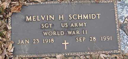 SCHMIDT, MELVIN H. (WWII) - Minnehaha County, South Dakota | MELVIN H. (WWII) SCHMIDT - South Dakota Gravestone Photos