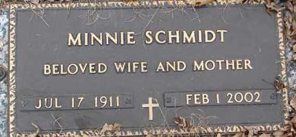 SCHMIDT, MINNIE - Minnehaha County, South Dakota | MINNIE SCHMIDT - South Dakota Gravestone Photos
