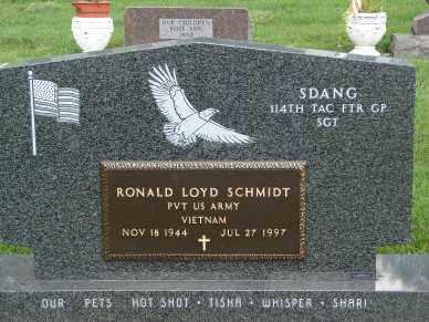 SCHMIDT, RONALD LOYD - Minnehaha County, South Dakota   RONALD LOYD SCHMIDT - South Dakota Gravestone Photos
