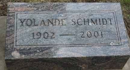 SCHMIDT, YOLANDE - Minnehaha County, South Dakota   YOLANDE SCHMIDT - South Dakota Gravestone Photos