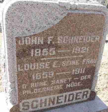 SCHNEIDER, JOHN F. - Minnehaha County, South Dakota | JOHN F. SCHNEIDER - South Dakota Gravestone Photos