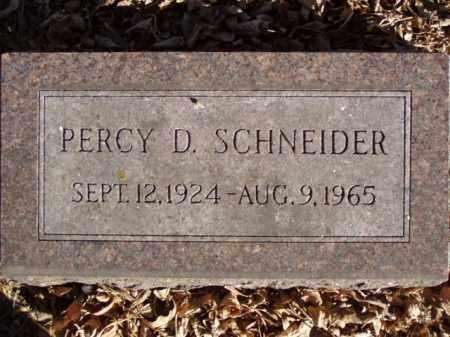 SCHNEIDER, PERCY D. - Minnehaha County, South Dakota | PERCY D. SCHNEIDER - South Dakota Gravestone Photos