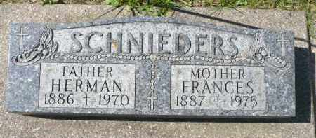 SCHNIEDERS, FRANCES - Minnehaha County, South Dakota | FRANCES SCHNIEDERS - South Dakota Gravestone Photos