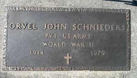 SCHNIEDERS, ORVEL JOHN (WWII) - Minnehaha County, South Dakota   ORVEL JOHN (WWII) SCHNIEDERS - South Dakota Gravestone Photos
