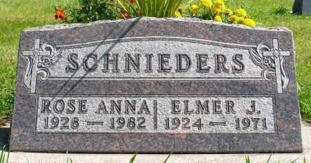 SCHNIEDERS, ELMER J. - Minnehaha County, South Dakota | ELMER J. SCHNIEDERS - South Dakota Gravestone Photos