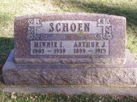 SCHOEN, MINNIE I. - Minnehaha County, South Dakota | MINNIE I. SCHOEN - South Dakota Gravestone Photos