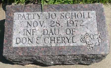 SCHOLL, PATTY JO - Minnehaha County, South Dakota | PATTY JO SCHOLL - South Dakota Gravestone Photos