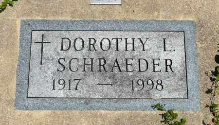 SCHRAEDER, DOROTHY L. - Minnehaha County, South Dakota | DOROTHY L. SCHRAEDER - South Dakota Gravestone Photos