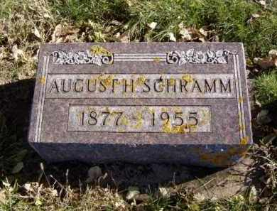 SCHRAMM, AUGUST H. - Minnehaha County, South Dakota | AUGUST H. SCHRAMM - South Dakota Gravestone Photos