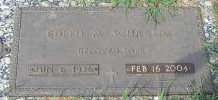SCHRAMM, EDITH M. - Minnehaha County, South Dakota   EDITH M. SCHRAMM - South Dakota Gravestone Photos