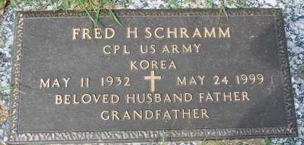 SCHRAMM, FRED H. (KOREA) - Minnehaha County, South Dakota   FRED H. (KOREA) SCHRAMM - South Dakota Gravestone Photos