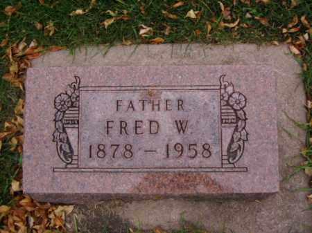 SCHREFF, FRED W. - Minnehaha County, South Dakota | FRED W. SCHREFF - South Dakota Gravestone Photos