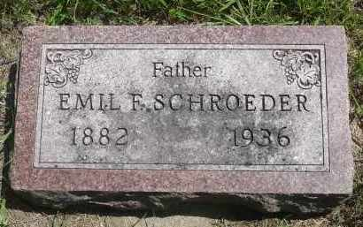 SCHROEDER, EMIL F. - Minnehaha County, South Dakota   EMIL F. SCHROEDER - South Dakota Gravestone Photos