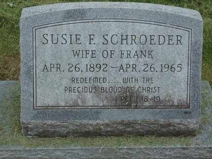 SCHROEDER, SUSIE F. - Minnehaha County, South Dakota | SUSIE F. SCHROEDER - South Dakota Gravestone Photos