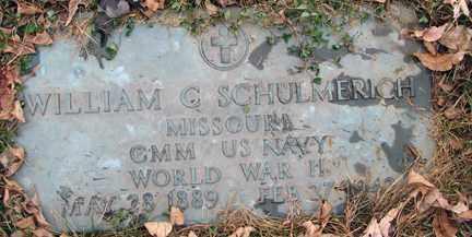 SCHULMERICH, WILLIAM G. (WWII) - Minnehaha County, South Dakota | WILLIAM G. (WWII) SCHULMERICH - South Dakota Gravestone Photos