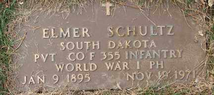 SCHULTZ, ELMER (WWI) - Minnehaha County, South Dakota | ELMER (WWI) SCHULTZ - South Dakota Gravestone Photos