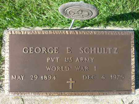 SCHULTZ, GEORGE E. - Minnehaha County, South Dakota | GEORGE E. SCHULTZ - South Dakota Gravestone Photos