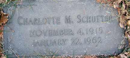 SCHUTTER, CHARLOTTE M. - Minnehaha County, South Dakota | CHARLOTTE M. SCHUTTER - South Dakota Gravestone Photos