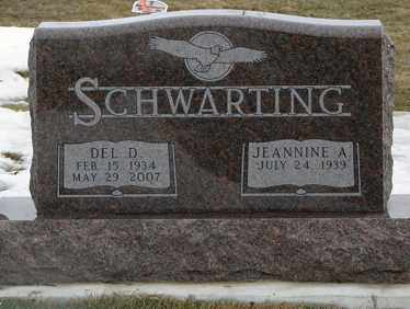 SCHWARTING, DEL D. - Minnehaha County, South Dakota | DEL D. SCHWARTING - South Dakota Gravestone Photos