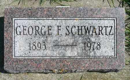 SCHWARTZ, GEORGE F. - Minnehaha County, South Dakota | GEORGE F. SCHWARTZ - South Dakota Gravestone Photos