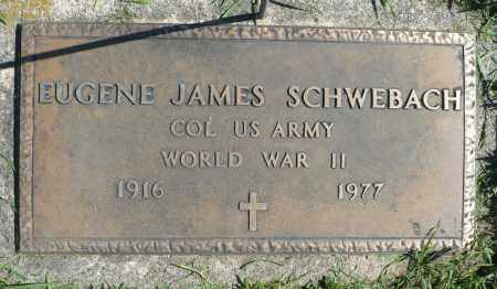 SCHWEBACH, EUGENE JAMES (WWII) - Minnehaha County, South Dakota | EUGENE JAMES (WWII) SCHWEBACH - South Dakota Gravestone Photos