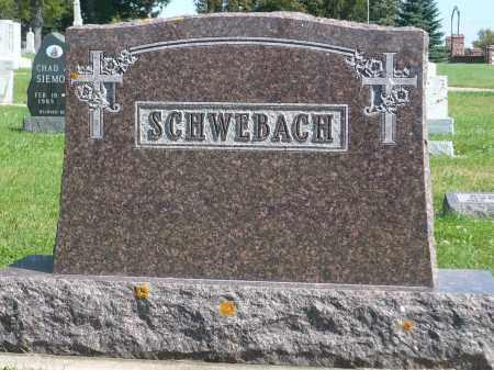 SCHWEBACH, FAMILY MARKER - Minnehaha County, South Dakota | FAMILY MARKER SCHWEBACH - South Dakota Gravestone Photos