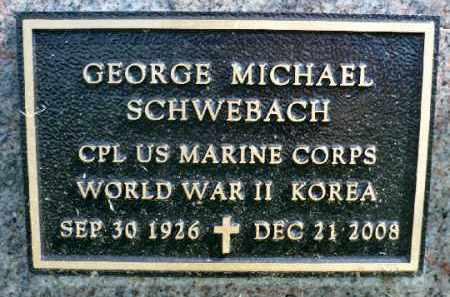 SCHWEBACH, GEORGE MICHAEL (MILITARY) - Minnehaha County, South Dakota | GEORGE MICHAEL (MILITARY) SCHWEBACH - South Dakota Gravestone Photos