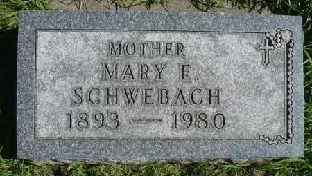SCHWEBACH, MARY E. - Minnehaha County, South Dakota | MARY E. SCHWEBACH - South Dakota Gravestone Photos