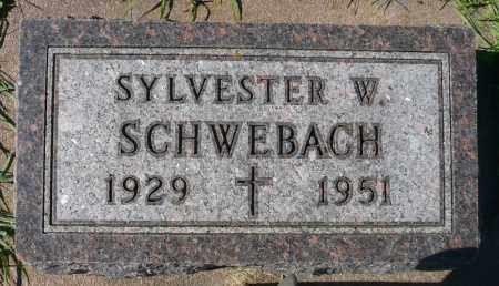 SCHWEBACH, SYLVESER W. - Minnehaha County, South Dakota | SYLVESER W. SCHWEBACH - South Dakota Gravestone Photos