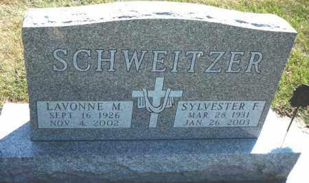 SCHWEITZER, SYLVESTER F. - Minnehaha County, South Dakota | SYLVESTER F. SCHWEITZER - South Dakota Gravestone Photos
