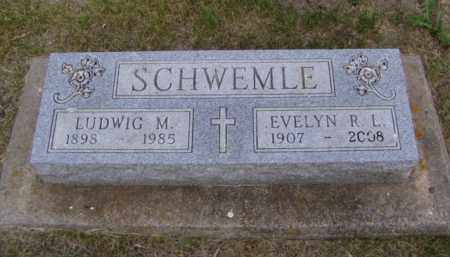 SCHWEMLE, EVELYN R. L. - Minnehaha County, South Dakota | EVELYN R. L. SCHWEMLE - South Dakota Gravestone Photos