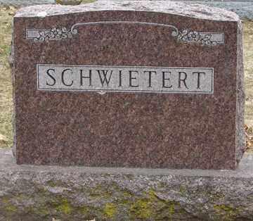 SCHWIETERT, FAMILY MARKER - Minnehaha County, South Dakota | FAMILY MARKER SCHWIETERT - South Dakota Gravestone Photos