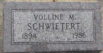 SCHWIETERT, VOLLINE M. - Minnehaha County, South Dakota | VOLLINE M. SCHWIETERT - South Dakota Gravestone Photos