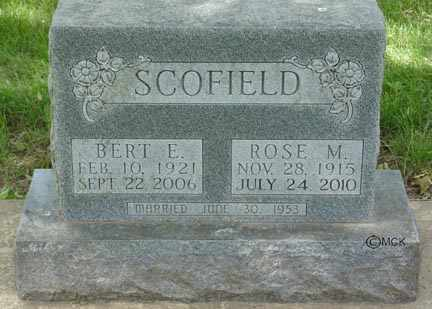 SCOFIELD, BERT E. - Minnehaha County, South Dakota   BERT E. SCOFIELD - South Dakota Gravestone Photos