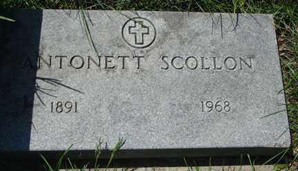SCOLLON, ANTONETT - Minnehaha County, South Dakota | ANTONETT SCOLLON - South Dakota Gravestone Photos