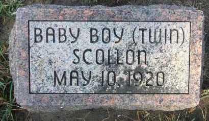 SCOLLON, BABY BOY (TWIN) - Minnehaha County, South Dakota | BABY BOY (TWIN) SCOLLON - South Dakota Gravestone Photos