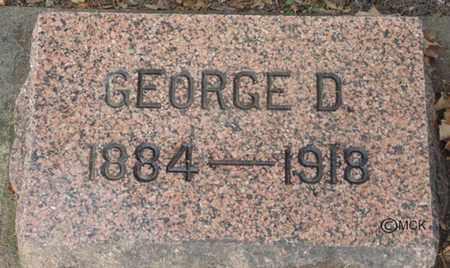 SEARLS, GEORGE D. - Minnehaha County, South Dakota   GEORGE D. SEARLS - South Dakota Gravestone Photos