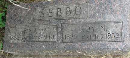 SEBBO, ROY N. - Minnehaha County, South Dakota   ROY N. SEBBO - South Dakota Gravestone Photos