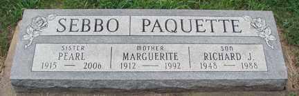 SEBBO PAQUETTE, MAGUERITE - Minnehaha County, South Dakota | MAGUERITE SEBBO PAQUETTE - South Dakota Gravestone Photos