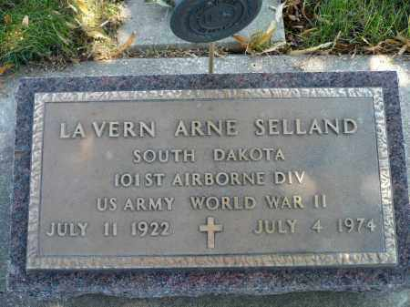 SELLAND, LA VERN ARNE - Minnehaha County, South Dakota | LA VERN ARNE SELLAND - South Dakota Gravestone Photos