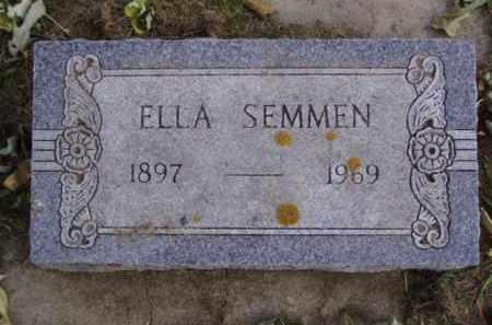 SEMMEN, ELLA - Minnehaha County, South Dakota | ELLA SEMMEN - South Dakota Gravestone Photos