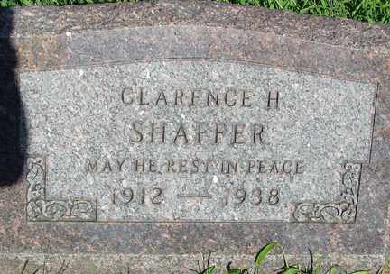 SHAFFER, CLARENCE H. - Minnehaha County, South Dakota   CLARENCE H. SHAFFER - South Dakota Gravestone Photos