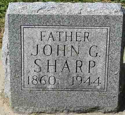 SHARP, JOHN G. - Minnehaha County, South Dakota | JOHN G. SHARP - South Dakota Gravestone Photos